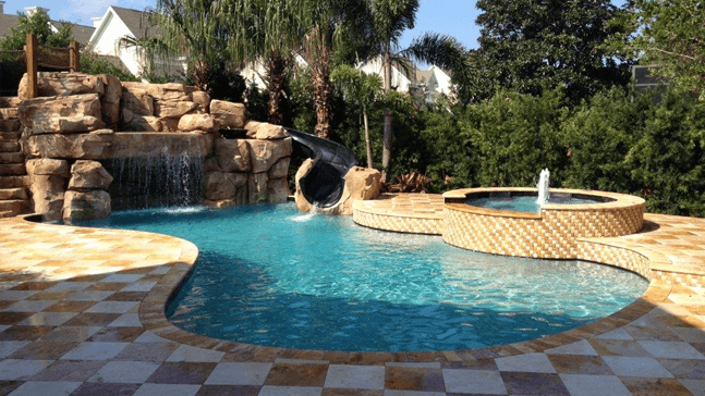 Freeform pool design orlando pool design windermere for Pool design orlando florida